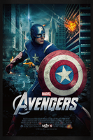The Avengers: Captain America | Theatrical Poster by Squiddytron