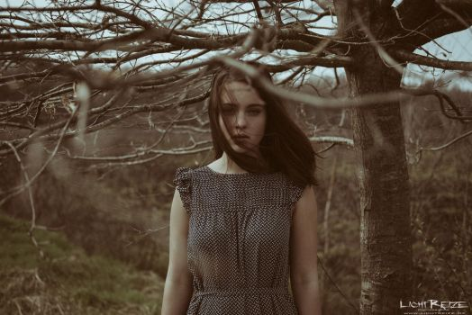 the girl from within the trees by LichtReize