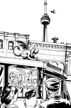 Toronto Comics Anthology cover by ADAMshoots