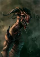 The Demon without eyes by DiegoKlein