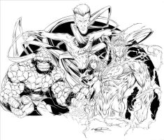 Fantastic Four Commision by millsy1c