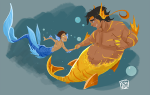 Voltron Mermaids by StrixMoonwing