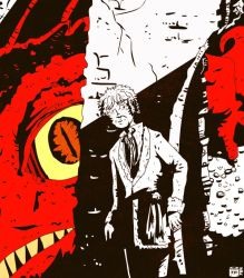 Smaug and Bilbo by tarunbanned