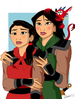 Mulan and Ana Ming by fluttershy7150