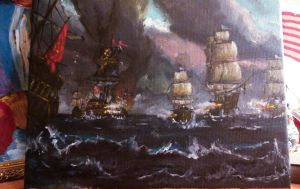 The battle in the storm by RinaRish