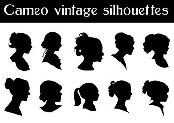 vector Cameo silhouettes by yulia7