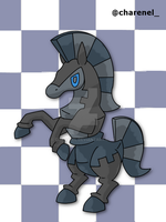 Checkorse black (fakemon) by Charenel