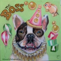 French Bulldog Circus portrait by WelcomeToTheDoghouse