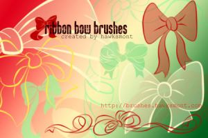 Ribbon Bow Brushes by hawksmont