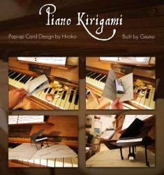 Piano Kirigami Popup Card by g3xter