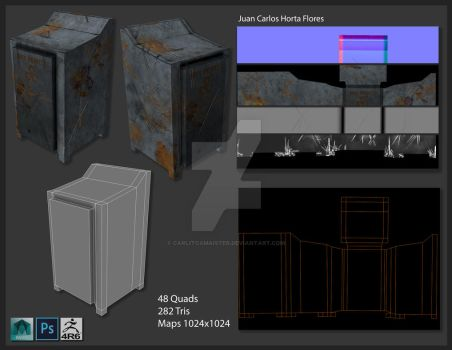 Industrial Cabinet Modeling and texturing by Carlitoxmaister