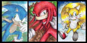 Team Sonic by DynamicFlamez