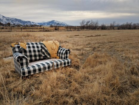 abandoned couch 1 by yellowicous-stock