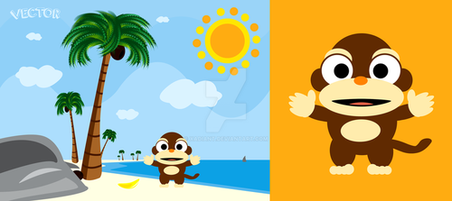 Vector monkey image by Xadiant