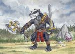 Badger Barbarian by Psydrache