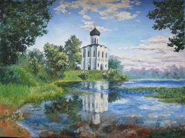 Church on the Nerl by RandomSearcher
