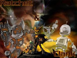 Ratchet and Clank Wallpaper by b0untyhunters