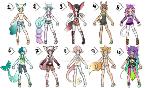 Big Batch Adopts: Set 1: 1/10 OPEN REDUCED PRICE by ObsceneBarbie