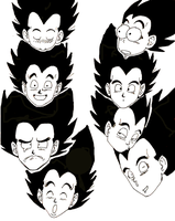 Faces Vegeta would never make by Kaminyu