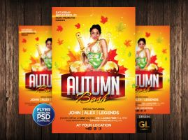 Autumn Flayer Template by Grandelelo
