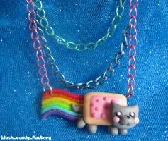 Nyan Cat Necklace by gothic-yuna