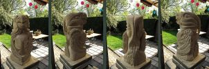 Totem bird made in sandstone by taisteng