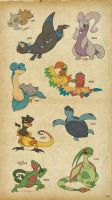 Lizard Pokesketch Batch 2