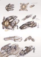 Space Fighter Concepts by ModalMechanica