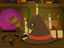 Witch Desk by BIueTay