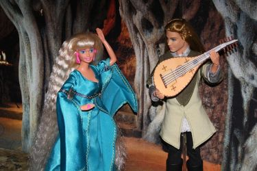 Legolas as lute player and his love by Menkhar