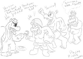 Playing Pirates - Donkey Kong Country by SparkBag