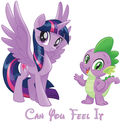 Can You Feel It (Twilight Sparkle And Spike) by hannah731