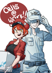 couple of cells by Snowcie