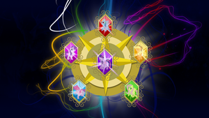 FiM: Elements of Harmony Wallpaper: With Mane 6 by M24Designs