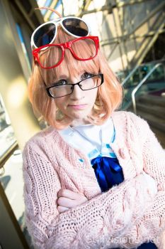Mirai Kuriyama: The Glasses Type by Seena-Cha