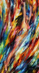Riding With The Wave by Leonid Afremov by Leonidafremov