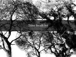 Tree brushes by Kittyd-Stock