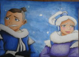 Sokka and Princess Yue. by collective-soul