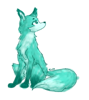 Green Fox by SpaceBananaZ