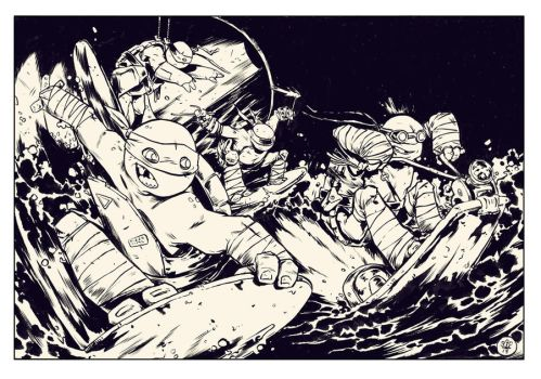 TMNT Sewer Ride Commission by TheWoodenKing