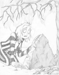 Beetlejuice At His Grave by Spencers13