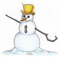 Snowman Guardian by Ski-Machine