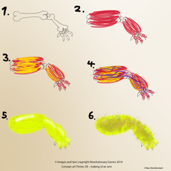 (Thrive) Concept Concept Art OE - making of an arm by VikingCheese
