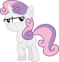 Evil thoughts Sweetie Belle by Yetioner