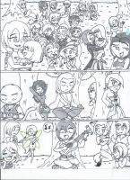 XS OC all star groups (uncolored) by XSreiki772