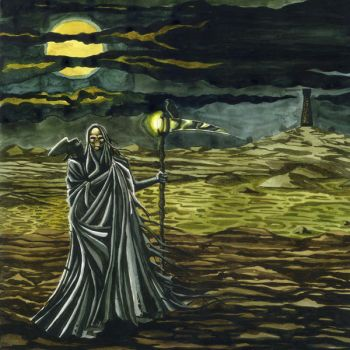 Skeleton on cloak by blacksad6