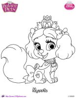 Princess Palace Pet Muffin coloring Page by SKGaleana
