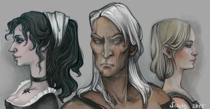 The Witcher sketches by Sceith-A