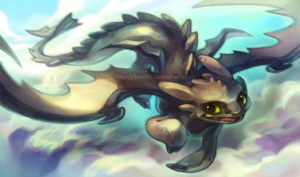 Toothless by kimchii