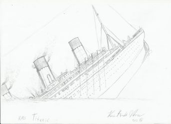 Titanic`s final moments by Admiral-Kevin